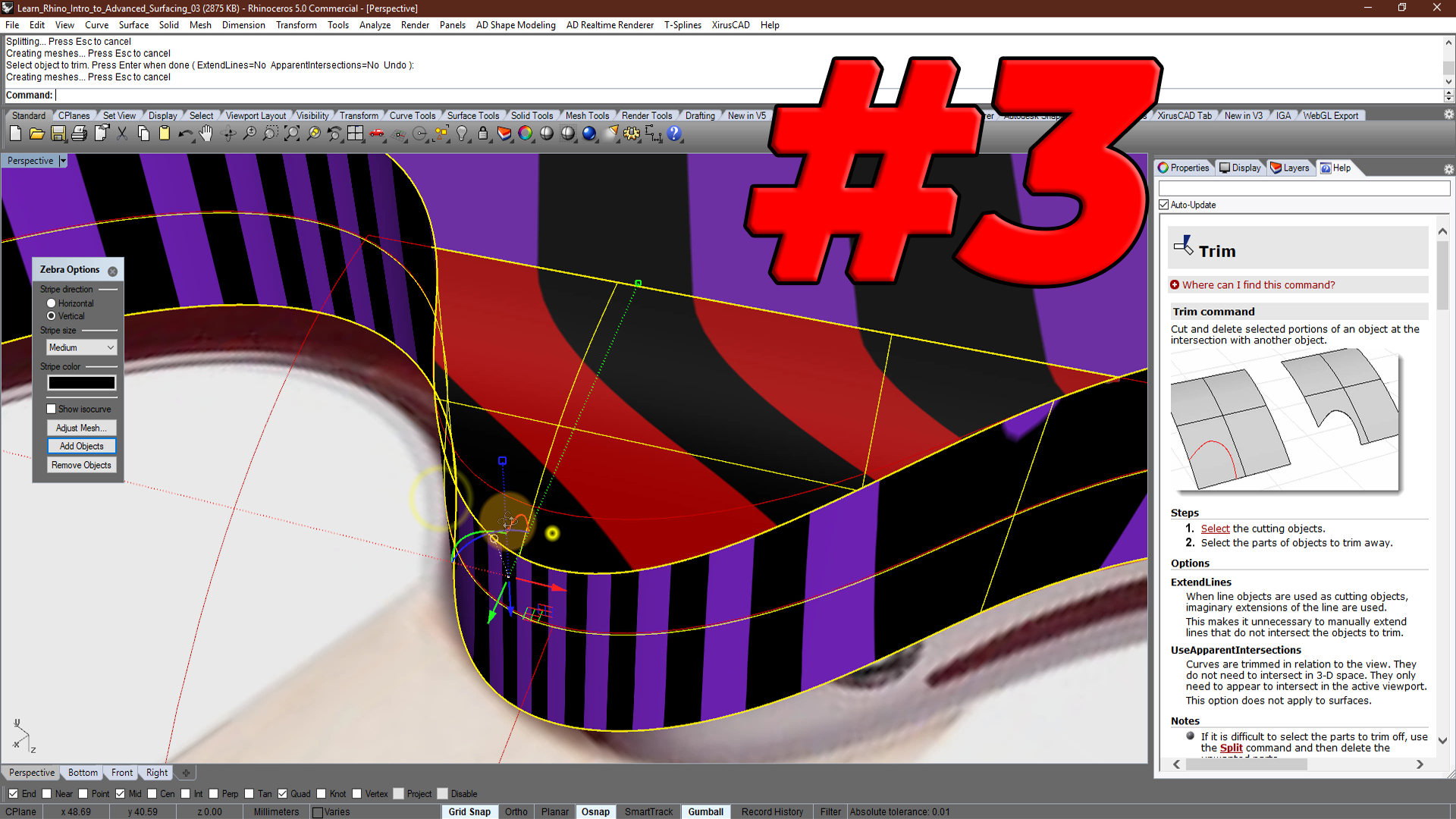 Intro to Advanced Surfacing # 3: Top part of the body